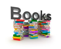 Books in piles Stock Photos