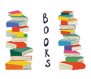 Books piles background for the educational card Stock Photo