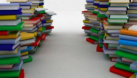 Books piles Stock Images