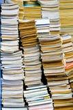 Books pileup Stock Image