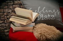 Books on pillow