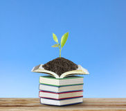Books with plant Stock Photos