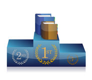 Books and podium illustration design. Over a white background Stock Images