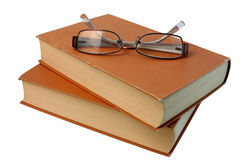 Books and points. Points lie from above on two books Stock Photos