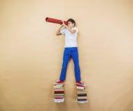 books pojken Arkivbild