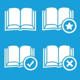 Books preferences icon set Stock Image