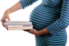 Books of pregnancy Royalty Free Stock Photography
