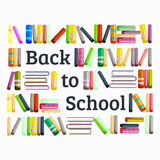 Books in public library, back to school and education concept in card or banner Royalty Free Stock Photo