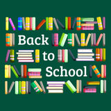 Books in public library, back to school and education concept in card or banner Stock Photo