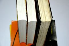 Books putting in a raw. stock photo