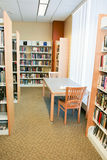 Books and Reading Area at Library Stock Photos