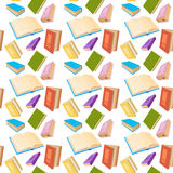 Books Reading Education Seamless Pattern. Vector Illustration Stock Images