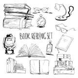 Books reading set Royalty Free Stock Photo