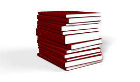 Books red. On white background Stock Images