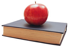 Books and red apple Stock Image