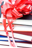Books with a ribbon and a bow Stock Photography