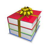 Books with ribbon and bow Royalty Free Stock Image