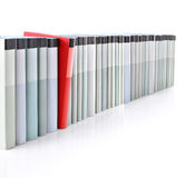 Books in a row. A row made of books on a white background Royalty Free Stock Photography