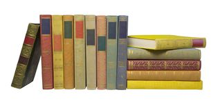 Books in a row Royalty Free Stock Photo