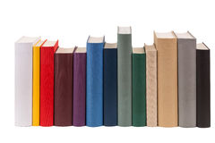 Books. A row of different books in different colors Royalty Free Stock Images