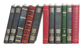 Books in a row Royalty Free Stock Images