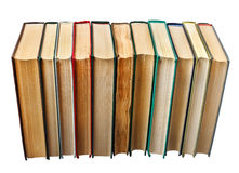 Books in a row Stock Photography