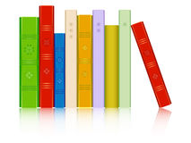 Books in a row reflected Royalty Free Stock Photography