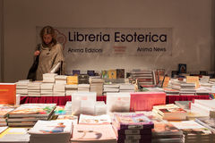 Books on sale at Olis Festival in Milan, Italy Stock Photography