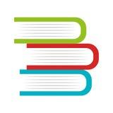 Books school isolated icon Stock Photo