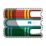 Books school supply icon Stock Image