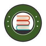 Books school supply icon Royalty Free Stock Image