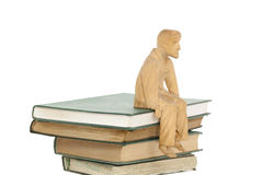Books and sculpture Stock Image