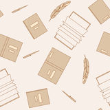 Books seamless pattern Royalty Free Stock Image
