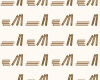 Books seamless pattern education. Background with books on a white stock illustration