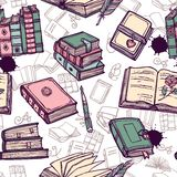 Books Seamless Pattern Stock Image