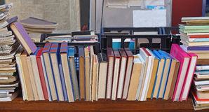 Books. Second hand books at flea market stall Royalty Free Stock Photo