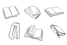 Books set Royalty Free Stock Photography