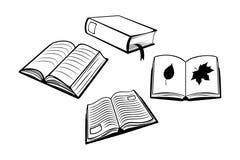 Books set. Illustration of vector book set Royalty Free Stock Photos