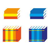 Books. A set of book icons Royalty Free Stock Photo