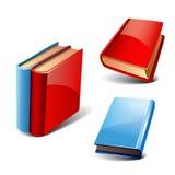 Books set. Books 3d style, vector set, on white background royalty free illustration