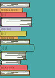 Books set library  icon Stock Photography