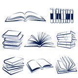 books set vector Stock Images