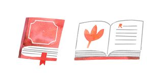 Books set on white background royalty free illustration
