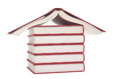 Books shaped like a house Stock Photography