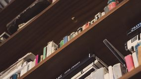 Books on Shelf Stock Image