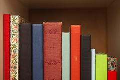 Books on a shelf Royalty Free Stock Image
