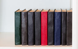 Books on the shelf Stock Image