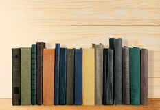 Books on shelf Royalty Free Stock Photography