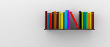 Books on the shelf. 3d illustration Royalty Free Stock Images