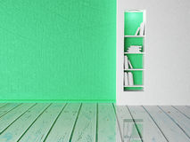 Books on the shelf, 3d. Rendering Stock Photography